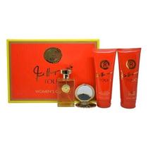 Perfume 4 Pc Gift Set 3,4 Oz Edt Spray, 6,7 Oz Loción Corpo