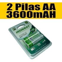 Pilas Baterias Aa Recargable 3600mah X2 Silverpoint Camara