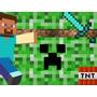 Kit Imprimible Minecraft Para Invitaciones Y Tarjetas