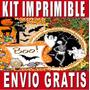 Kit Imprimible Halloween Diseña Invitaciones Y Tarjetas