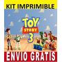 Kit Imprimible Toy Story 3 Diseña Invitaciones Y Tarjetas