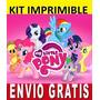 Kit Imprimible Little Pony Diseña Invitaciones Y Tarjetas