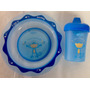 Plato Y Vaso De 6 Oz Entrenador Figura Mono Azul Evenflo