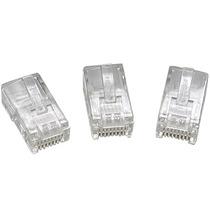 Conectores Rj45 Cat6 Bolsa X 100 Cableado Ethernet Qpcom