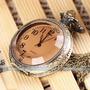 Reloj Bolsillo Modelo Antiguo Ns. Arábigos Cadena - Cuarzo
