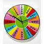Reloj De Pared Rueda Fortuna Reloj Dinero 30cms Diametro