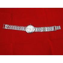 Permuta Cambio Reloj D´mario Hombre Tablero Blanco Pul Metal