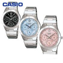 Reloj Casio Para Dama Mujer Ltp 2069 Multiaguja