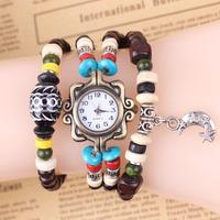 Hermoso Reloj Pulsera Con Madera Elaborada A Mano Real Foto