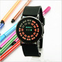 Reloj Led De Lujo Correa Silicona Bolas En Numero Multicolor