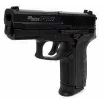 Super Pistola Arma Sigsauer Sp 2022 Version Metalica Real