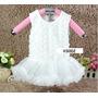 Set Vestido Tutu Bautizo (3pcs) Para Bebes Y Niñas, Ropa