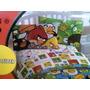 Juego De Cama Sencillo Y Semidoble Angry Birds