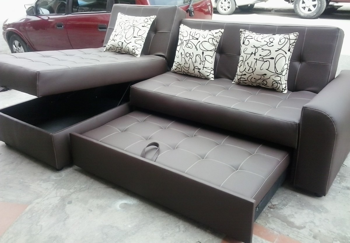 Sala sofa cama marca boal color chocolate pictures for Sofa cama colores