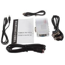 Pc Vga Av Rca Tv Monitor S-video Adapter Convertidor Switch