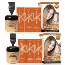 Cabello Liso Kativa Alisado Brasileño Kit Sedoso Duopack X2