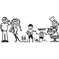 Stikers De Familia Feliz Colombiana Para Autos Vinilos