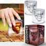 Vaso Copa Forma Calavera 2.5 Onz Cristal Bebidas Whisky