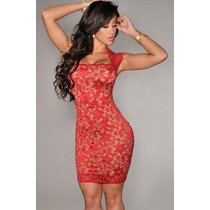 Vestido Encaje Para Mujer Sexy Elegante Exclusivo Ejecutiva