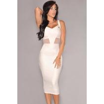 Vestido Elegante Exclusivo Sexy Ejecutiva Mujer Coctel