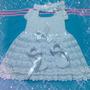 Vestido En Crochet Para Bautizo