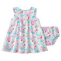 Lindo Vestido Flores Ropa Bebe Niña 24 Meses Carter`s