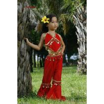 3x Piezas Vestido Danza Arabe Niña, Danza Del Vientre