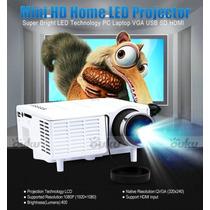 New Mini Video Proyector Hd 100 Led 1080p Hdmi Portatil Usb