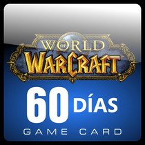 World Of Warcraft Tarjeta Prepago X 60 Dias Nueva Y Original