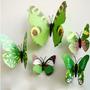 12 Mariposas 3d Para Decorar Paredes, Vinilo