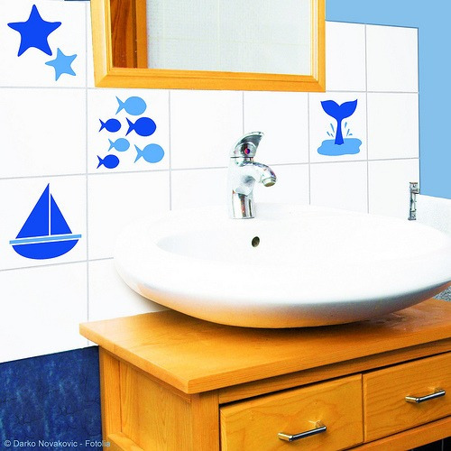 Azulejos Baño Adhesivos:Vinilos Adhesivos Decorativos Para El Baño