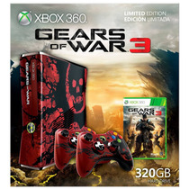 Xbox 360 Gears Of War 3 2 Controles 320gb Programada Lt 3.0