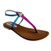 Sandalias Para Mujer Planas Giovana. Zapatos En Goma