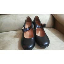 Promocion Zapatos Cuero Negros Para Dama Tala 35