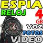 Reloj 4gb Camara Video Fotos Audio Espia Oculta Memoria Dvr | JACANAS.
