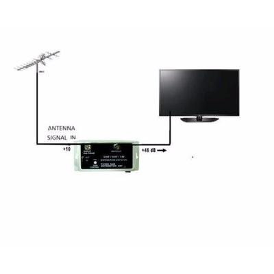 Amplificador booster para antena tv tdt y analoga de 36db - Amplificador senal tdt ...