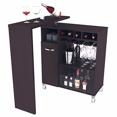 Mueble mini bar en mercado libre for Bar en madera moderno