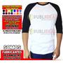 Camiseta Ranglan Manga 3/4 100%algodon | JOHANNFERNANDOHERNNDEZ