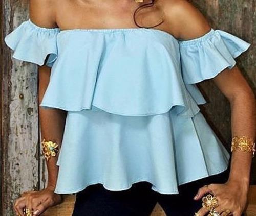 Blusas para mujer Limonni LI751 Campesinas