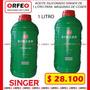 Aceite Siliconado Para Maquina De Coser Singer De 1 Litro   CARGUZVI