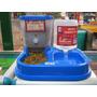 Dispensador Comida Y Agua  Perro / Gato Doble  ¡ Portatil !   MAURIZIO5