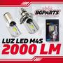 Luz Led M4s Farola Moto 2000lm Reales Socket H4 Y Ba20d