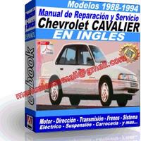 Manual de Reparacion Taller Chevrolet Cavalier 1988 1989 1990 1991 1992 1993 1994