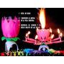 Velas Flor  Magica Rotatoria Musical Cumpleaños Aniversarios   DRPERALTA