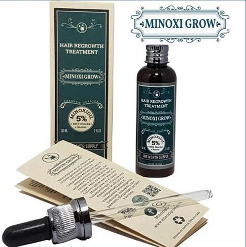 Minoxigrow %5 Tratamiento Para Crecimiento De Barba-alopecia