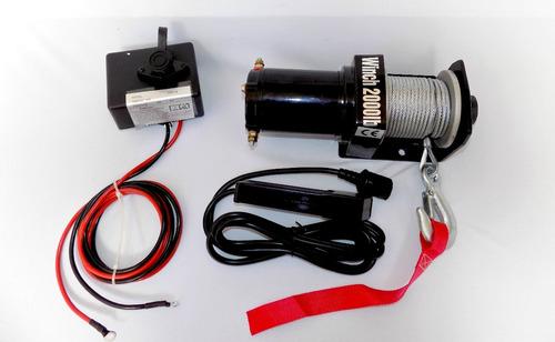 Winche Electrico 2000 Libras 12v, Utv