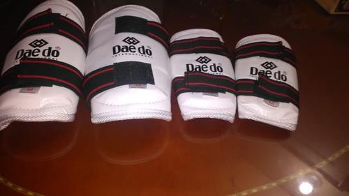 Antebraceras Y Canilleras Talla M Taekwondo  4 Piezas