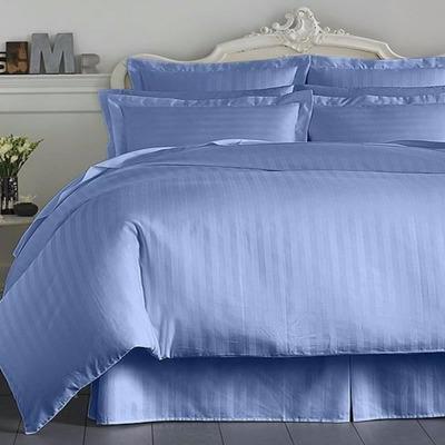 Sabanas satin 100 algod n 400 hilos azul queen alto 41 cm for Cama queen dimensiones