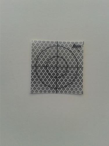 Dianas Reflectivas Para Topografía Leica 5x5 Cm!