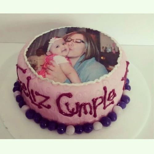 Foto Torta Ponque Impresion En Papel Comestible De Arroz